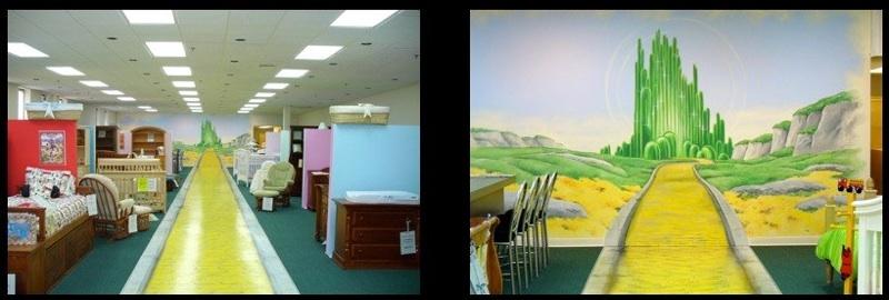 babies n beds elmhurst wizard of oz mural crayons gone. Black Bedroom Furniture Sets. Home Design Ideas