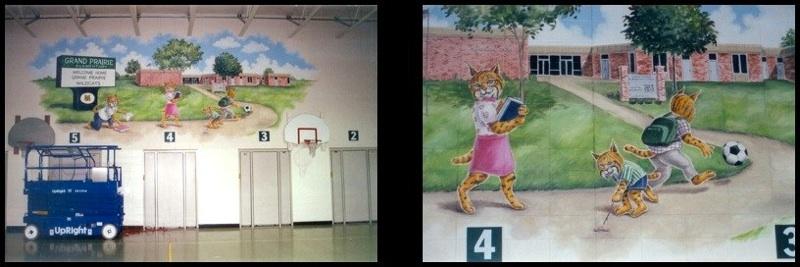 Grand prairie elementary school planfield elementary for Elementary school mural